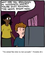 "\MWV N?B WOO 0ROV>OSVNiG7im wjcpGrt-ivro nvoos?vou'fie asikovmg-TV\5 sie^S RVGVtV NCAk),2/""The wicked flee when no man pursueth."" -Proverbs 28:1"