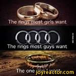 The rings most girls wantThe rings most guys wantThe one ring I want