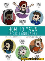 HOW TO YAWNIN SIX LANGUAGES