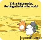 This is Sahara toiletthe biggest toilet in thpwin the world