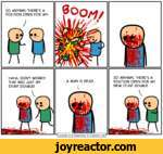 SO ANYWAY, THERE'S A POSITION OPEN FOR MY-HAHA, DON'T WORRY! THAT WAS JUST MY STUNT DOUBLE!.A MAN IS DEAD..ISO ANYWAY, THERE'S A POSITION OPEN FOR MY NEW STUNT DOUBLE.|Cyanide and Happiness Explosm.net|