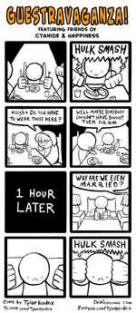 FEATURING FRIENDS OF CYANIDE & HAPPINESSComic by Tyleif HenJriXSlliffes+comic.conTu/i+ter.com/TylerHe^i/rixp4+reon.comlTyler*Hen(|irix