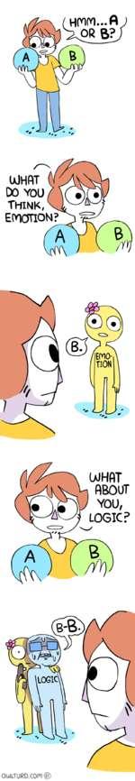 DO YOUThink,EMOTION:UJHflTABOUTLOGIC?/