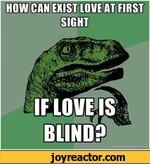 How can exist love at first sight if love is blind?