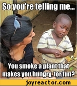 so you're telling me you smoke a plant that makes you hungry for fun?