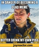 In danger of becoming a dead meme better drink my own piss