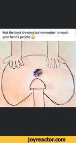 Not the best drawing but remember to wash your hands people ^