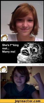 she's f**king real...