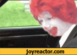 The burget king shoots Ronald McDonald
