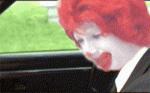 The burget king shoots Ronald McDonald