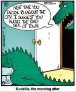 Godzilla, the morning after