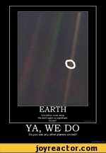EARTH One billion miles away We dont seem so significant Do we? YA, WE DO Do you see any other planets circled?