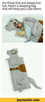 For those that are always too hot, here's a sleeping bag that will keep you Luke warm