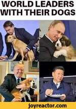 WORLD LEADERS WITH THEIR DOGS