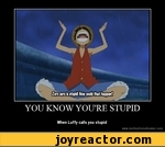 YOU KNOW YOU'RE STUPIDWhen Luffy calls you stupidwww.motivationalmaker.com