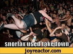 snorlax used takedown