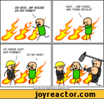 OH GOP, MY HOUSE IS ON FIRE!!! YO HOUSE JUST GOT PIMPED!! OH MY GOD// *|Cyanide and Happiness © Explosm.net|