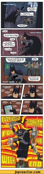 BATMAN why don't you come DOWN HERE?