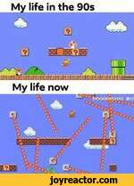 My life in the 90saos:?h h My life nowsie