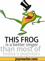 THIS FROG is a better singer than most of today's popstars
