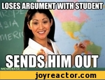 loses argument with student sends him out