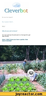 Do you love niggers? No, I guess I don't. Why? Why do you ant to know? So I can sceencap this and post it on Funnyjunk to get easy thumbs. Aww. I didn't know you have a garden. How does it look like?
