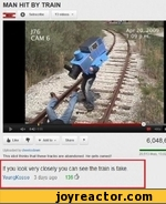 MAN HIT BY TRAIN if you look very closely you can see the train is fake