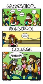 Ggradeschool pokemon highschool are you seriously playing pokemon