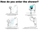 how do you enter the shower