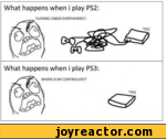 What happens when i play PS2:FUCKING CABLES EVERYWHERE!!What happens when i play PS3:WHERE IS MY CONTROLLER??PSB