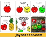 I'M AN APPLE'I'M A PINEAPPLE'I'M A GOLPEN PELlClOUS'I'M A GRANNY SMITH!NEIN, NS IN, NE IN I ONLY PUPE/ pec? applet APE FIT TO DOMINATE ZE VOPLPiO'