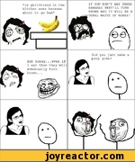 le girlfriend in the kitchen sees bananas about to go bad