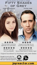 The most heart-wrenching Cosgrove and Cage are two S&M tale of our generation. of the best actors this century. ★★★★★ ★★★★★ IDK WTF I just saw. Best mommy-porn since but it was beautiful. 'Doms of Dark Haven 2: Western Night' From the director who brought you 'Twilight' Fifty