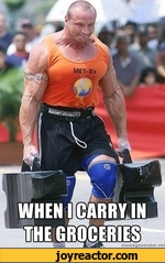 when i carry in the groceries