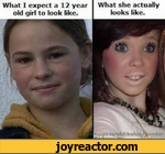 What I expect a 12 year old girl to look like. What she actually looks like.