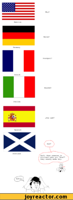 America Germany French Italian Scotland