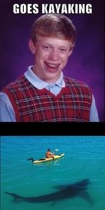goes kayaking