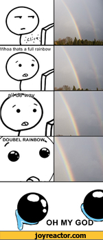 Whoa thats a full rainbow