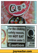 for the choking safeety reason do not eat children under 3