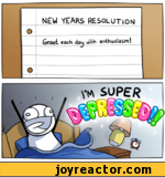 MEVJ YEARS RESOLUTION o 6ceei each day üikVt enthusiasm!