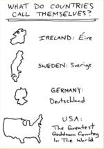 "WHAT 1>o COUNTIES CALL THMS'Ll/'S?XRELAND: '-^eGERMANY-USA-.""TkfiGoddo.^*, Cow^i4>^ I* ~TLe >/- /d"