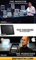 THE INVENTORMicrosoft introduced the tablet2002 dg[[ic3Samsung designsTHE MARKETEERClaims invention and design2010