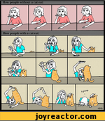 How people with a cat eat