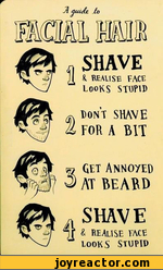 A guide  facial hair