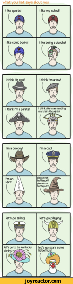 What your hat says about you