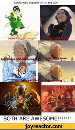 Similarities Between ATLA and LOKBOTH ARE AWESOME!!!!!!!