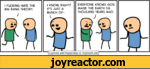 1 KNOW, RIGHT? IT'S JUST A BUNCH OF-EVERYONE KNOWS GOD MADE THE EARTH SIX THOUSAND YEARS AGO.Cyanide and Happiness  Explosm.net