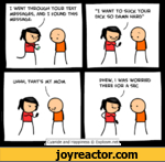"""I WENT THROUGH YOUR TEXT MESSAGES, AND I FOUND THIS MESSAGE.""""I WANT TO SUCK YOUR DICK SO DAMN HARD""""UHHH, THAT'S MY MOMVPHEW, \ WAS WORRIED THERE FOR A SECCyanide and Happiness  Explosm.net I"""